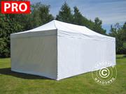 Folding canopy 4x8 m Pro Pack,  incl. 6 sidewalls,  white