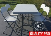 Party package 1 folding table (152 cm) + 4 chairs