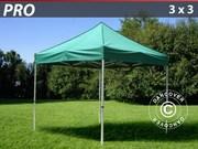 Folding canopy FleXtents Pro 3x3 m,  green