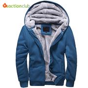 Excellent Winter Thicken Mens Zipper Hoodie