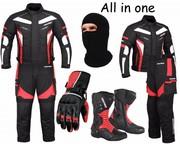 (Red) 6 Packs Design Suit - Jacket + Trouser + Gloves + Boots (Long)